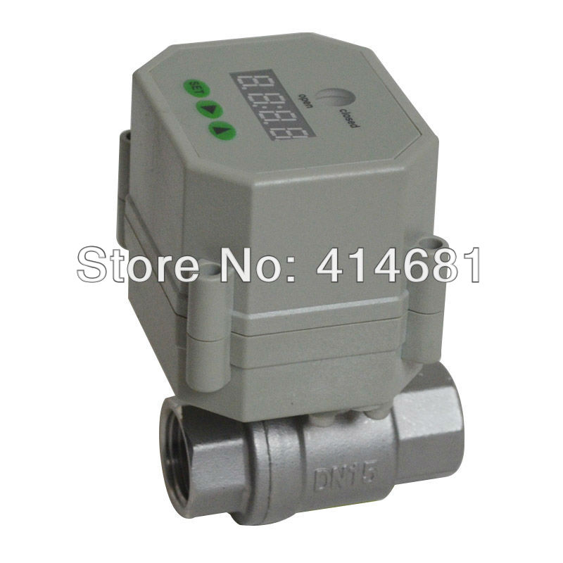 ФОТО 1/2'' SS304 Timer Controlled motorized Valve, 110V-230VAC time set electric valve for garden, Drain water, water control