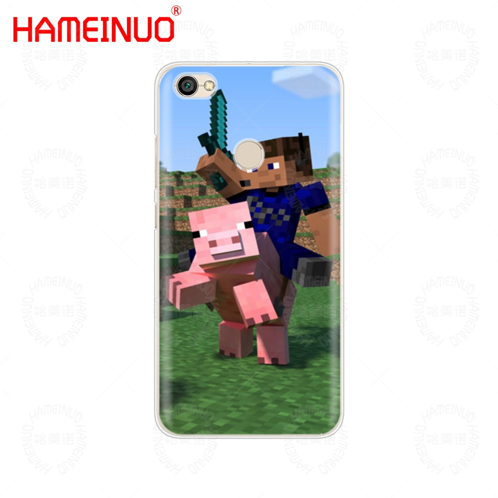 Hameinuo Creeper Minecraft Cover Phone Case For Xiaomi Redmi 5 4 1 1s 2 3 3s Pro Plus Redmi Note 4 4x 4a 5a Phone Bags & Cases Half-wrapped Case