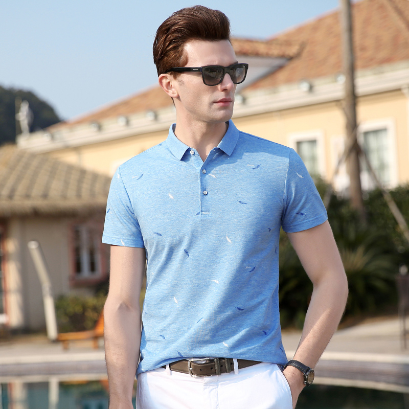 2019 New Fashion Brand Clothes Polo Shirts Mens Print Summer Slim Fit With Short Sleeve Top Grade Poloshirt Casual Men Clothes Moderate Cost