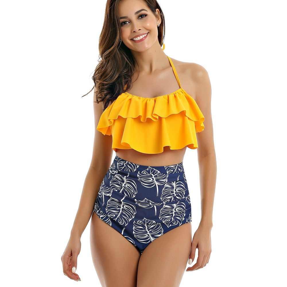 SAMEGAME бикини со складками Новое поступление 2019 года для женщин плавание костюм бразильский комплект бикини ванный одежда пляжный купальник Biquini