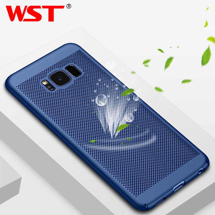 Wst ultra fino caixa do telefone para samsung galaxy s8 s9 s7 s6 plus s6 borda mais s8 s9 mais s7 s6 caso oco calor plástico capa completa