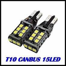 New Super Bright!! 10PCS T10 led Canbus t10 15led 2835smd NO ERROR CANBUS 12V 24V DC SMD White light w5w Led canbus ERROR Free