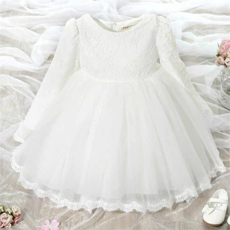 285a28c529fac Baby Girls Clothes 1 Year First Birthday Dress Newborn Girl Toddler Kids  Princess Vestido infantil Christening Gown Bow Dresses