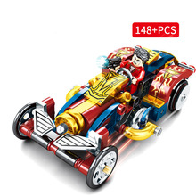 Toys For Children Superhero Chariot Racing Model Kit Compatible Legoing Boys Assembling DIY Educational Building Blocks Toy I63 цены