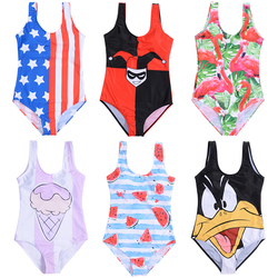 17 Pattern Cartoon Styles Women One Piece Swimsuit 3D Print Swimwear One-Piece Suits full suit for swimming  one piece swimsuit 2