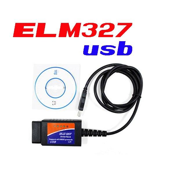 DHL/FedEx 100 шт топ продаж ELM327 интерфейс USB OBD2 Авто сканер V1.5 OBDII OBD 2 II elm327 usb Супер сканер