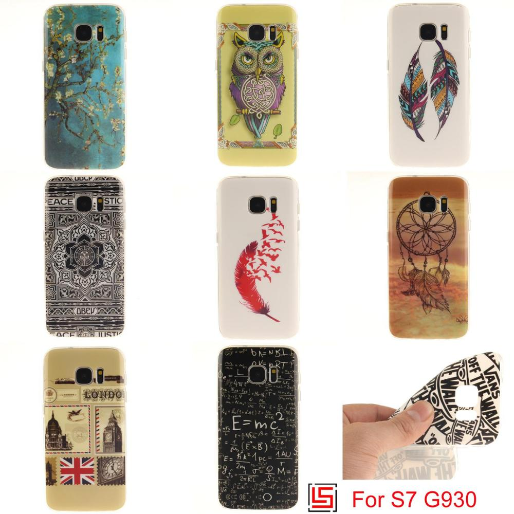 Art Ultra Thin TPU Silicone Soft Phone Cell Mobile Case carcasa Cover Cove For Samsung Samsuns Galaxy S7 SM-G930F SM G930 Owl