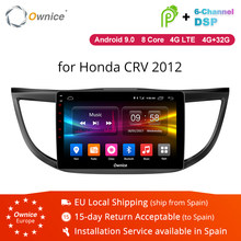 Ownice K1 K2 K3 2DIN Android 9.0 Car Radio GPS Player for Honda CRV 2012 2013 2014 2015 2016 W/ 8 Core 2G RAM 32G ROM Support 4G(China)