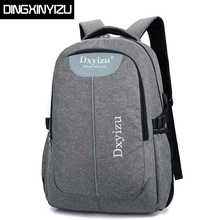 DINGXINYIZU Brand backpack Canvas Men and Women Backpack Student School Backpack Women Travel Computer Laptop Bag