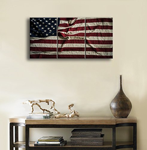 Us 28 0 Eagle Red And White Usa American Flag Miltary Canvas Print Independence Day Home Decor Wall Art Christmas Pictures Bedroom In Painting