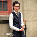 Men Autumn Winter Vest Suit Brand Clothing Male Formal Vest Solid Single Breasted Waist Coat Slim Fit Vintage Fashion A2927