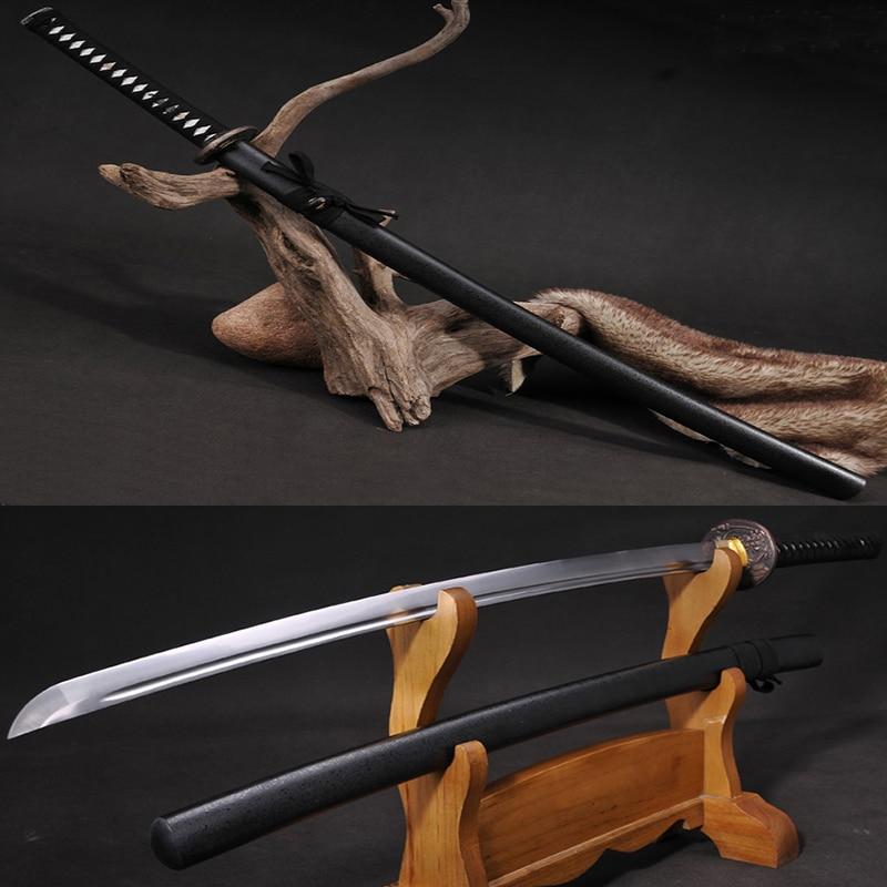 horké katanasové meče katanas samurajské japonské meče s vysokou uhlíkovou ocelí Sharp katana bushido plné tang železné Tsuba kliky