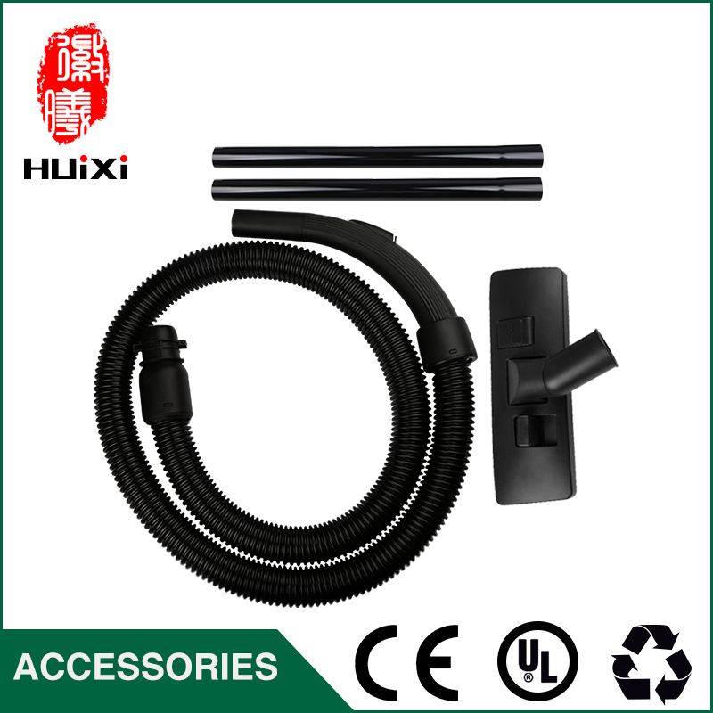 Diameter 32mm Black Flexible suction Hose+Straight hose pipe +Floor brush for Vacuum Cleaner parts