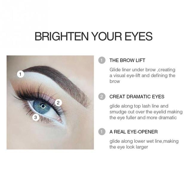 12PCS/Lot white Make Up  Pen Eyeliner Eye Liner Pencil Eyebrow Eyeshadow Cosmetics Eyes Makeup Tools 5
