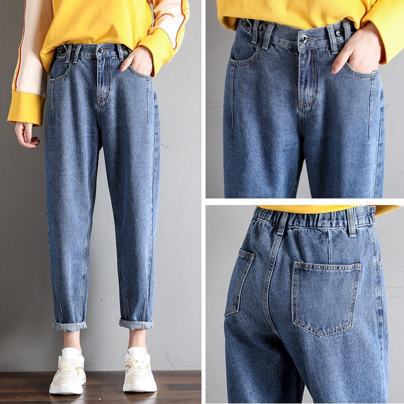 GCAROL New Women 93% Cotton Blends Pencil Denim Pants High Waisted High Street Boyfriend Style Jeans In 3 Colors Plus Size 26-32 17