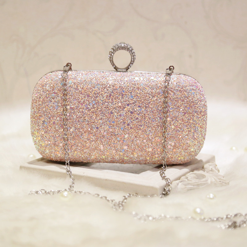 ФОТО Evening Bag Girl Rhinestones Fashion Figner Ring Party Bag Sparkly Day Clutch Wallet Purse Party Banquet Bolsas