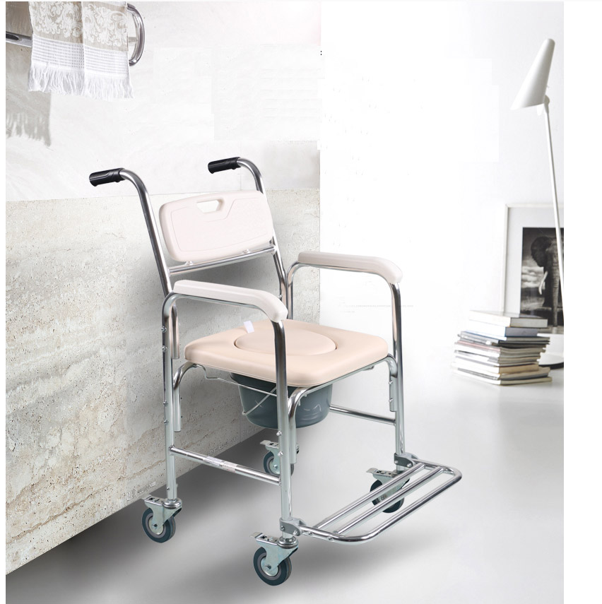 disabled bedside folding toilet bath chair wheelchair commode chair