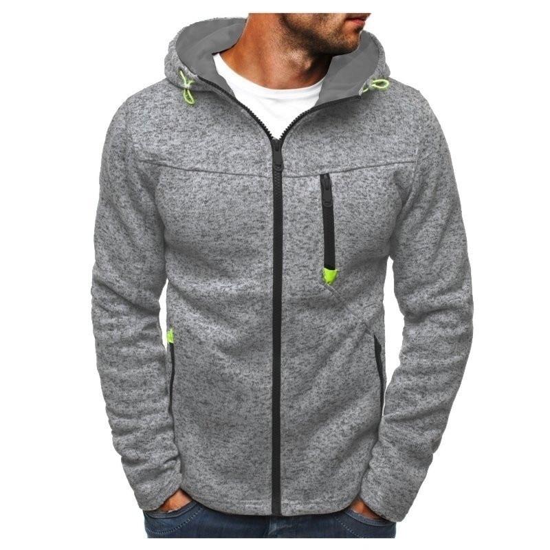 Winter Men Fashion Tracksuit Hoodies Sweatshirts Zipper Jogger Cotton Fleece Hoody Sweatshirt Casual Outwear INCERUN Clothes
