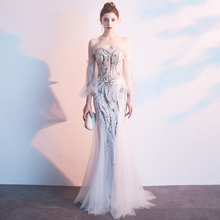 FOLOBE Elegant Off The Mermaid Evening Dresses Party Dress