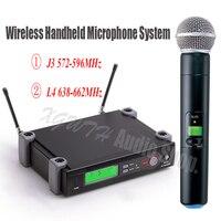 Беспроводной микрофон UHF один запись Studio Динамический Ручной караоке дома системы для SM 58 сцены KTV Вечерние