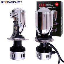RXZ ใหม่ H4 LED MINI โปรเจคเตอร์เลนส์ H4 LED ชุด H4 หลอดไฟ 9600LM รถยนต์ Hi/Lo Beam LED ไฟหน้า 12V 24V 5000K