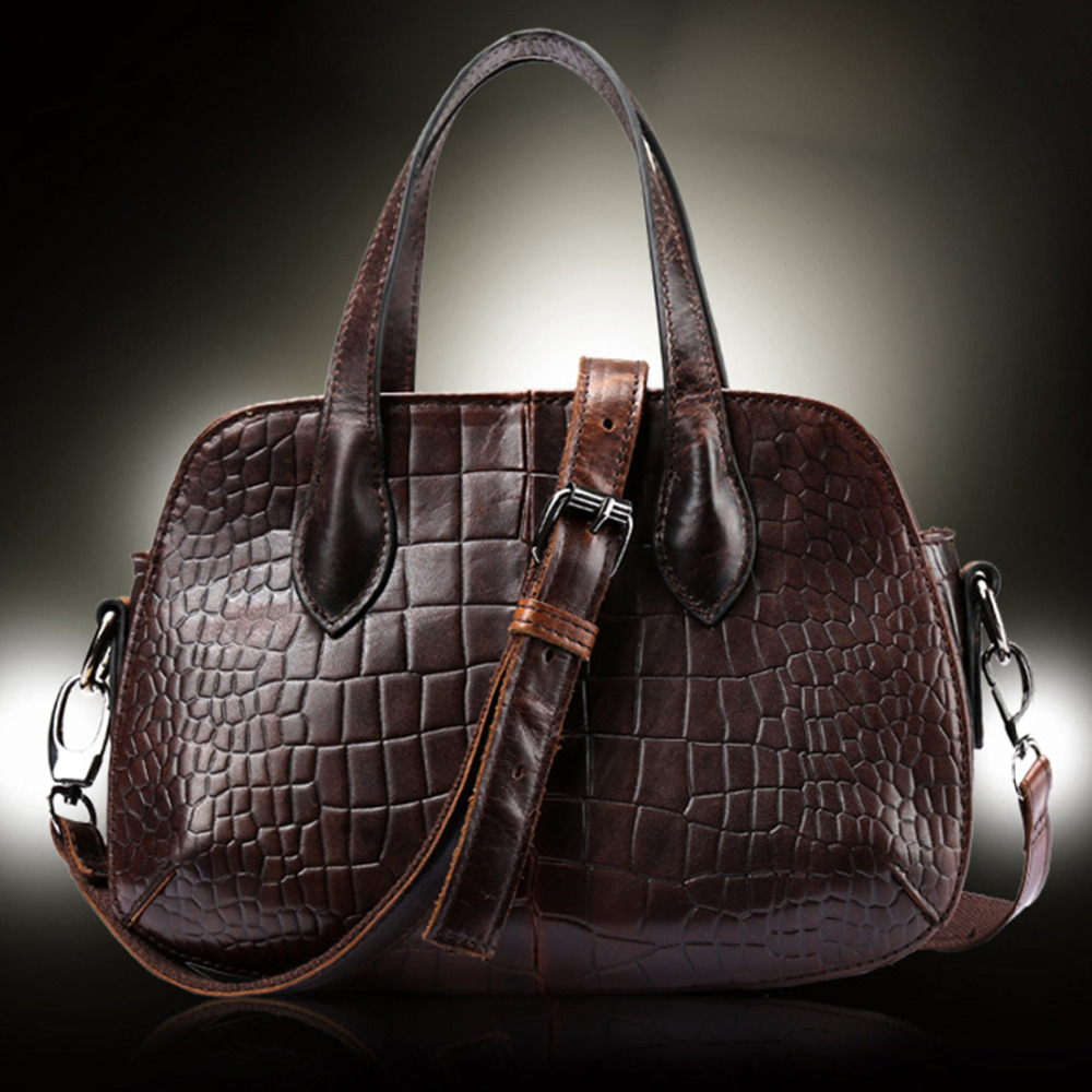 100% Genuine Leather Women Messenger Shoulder Crocodile Pattern Luxury Vintage Female Small Cross Body Tote Hand Bag Purse100% Genuine Leather Women Messenger Shoulder Crocodile Pattern Luxury Vintage Female Small Cross Body Tote Hand Bag Purse
