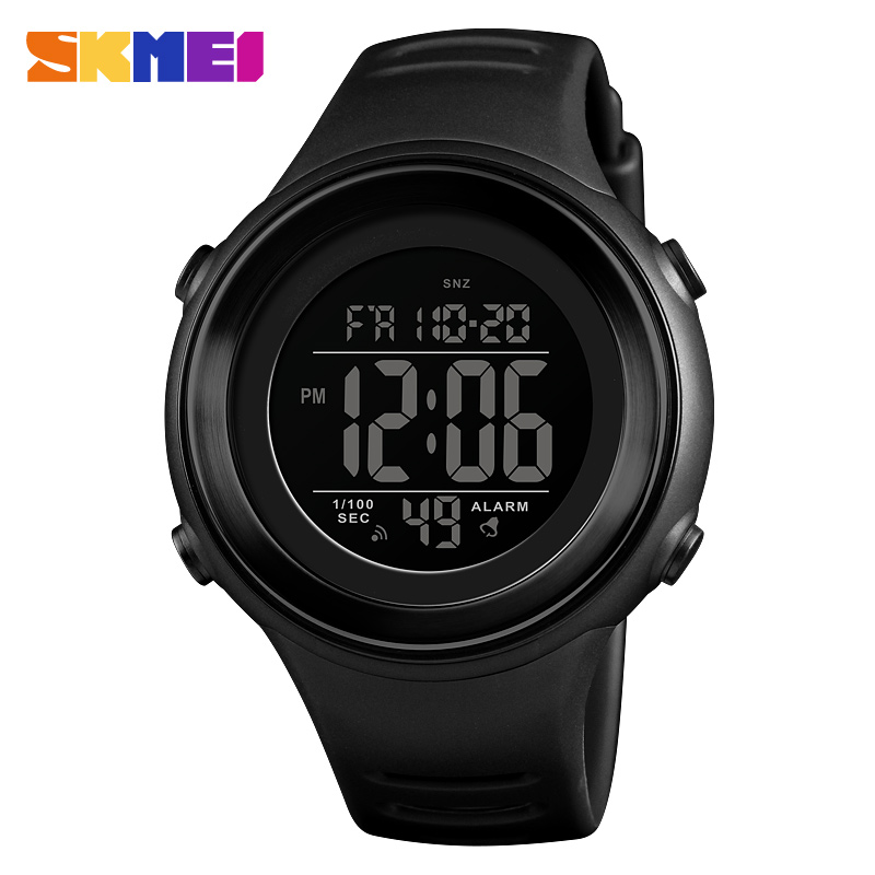 Men's Sports Watches <font><b>SKMEI</b></font> Waterproof Countdowns LED Digital Watch Outdoor Military Steel Case Clock Male Relogio Masculino image