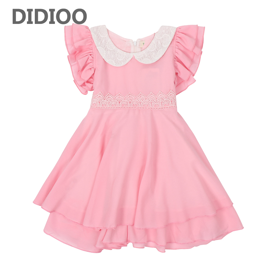 Children Dresses for Girls Summer Dress for Princess Clothes Infant Vestidos Kids Chiffon Dresses Bow 3 4 5 6 Years Girls Formal girls dress summer 2017 denim dresses for girls infant strap children clothing princess sundress fashion design kids clothes