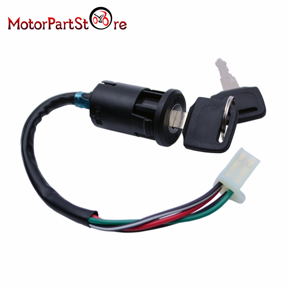 4 Wire Ignition Switch Wiring Diagrams Atv Key Diagram Motorcycle Lock Plug For 50 70 90 110 125 150 200 250cc Taotao