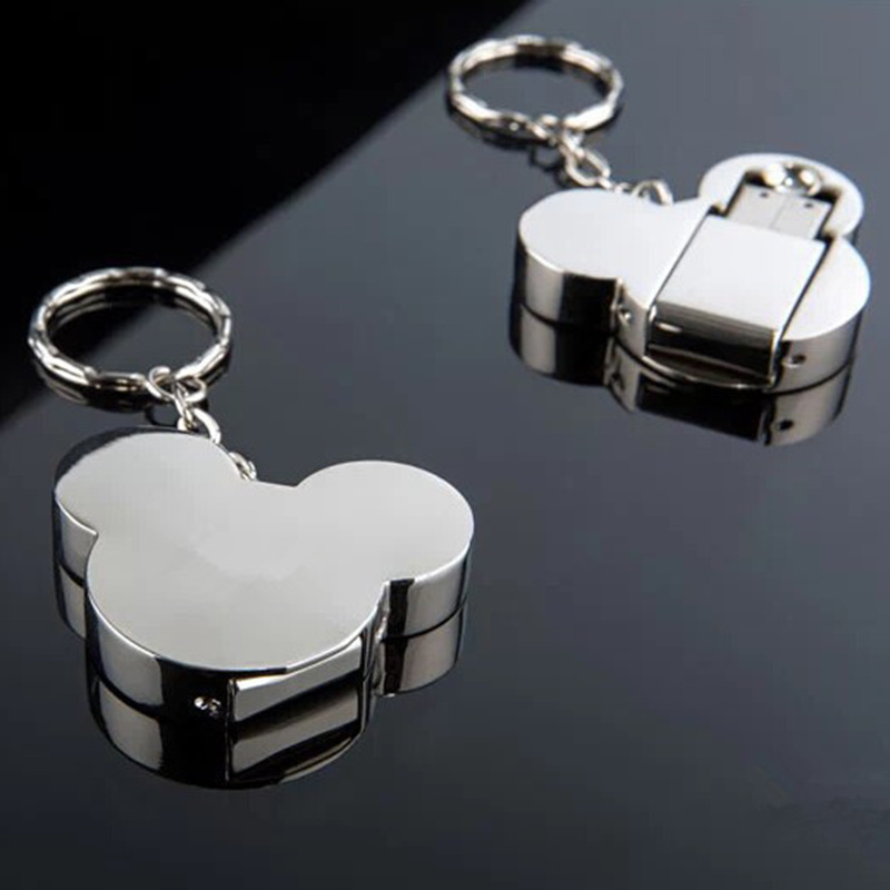 128 GB Metal Mickey Mouse Pendrive 128GB USB Flash font b Drive b font 64GB 32GB
