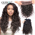 New Arrival 7A 360 Lace Frontal With Bundles #1B Peruvian Virgin Hair Loose Deep Curly 360 Full Lace Frontal Closure