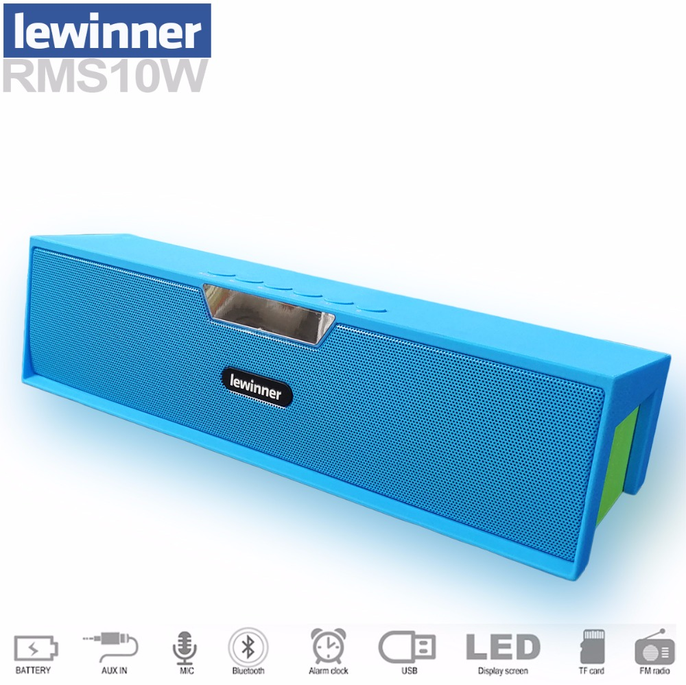 lewinner Big power 10W HIFI portable wireless bluetooth Speaker Stereo subwoofer Sound support mic TF FM radio Aux clock led portable bluetooth speaker wireless outdoor stereo bass sound hifi loudspeaker 20w high power big speaker with tf card fm radio