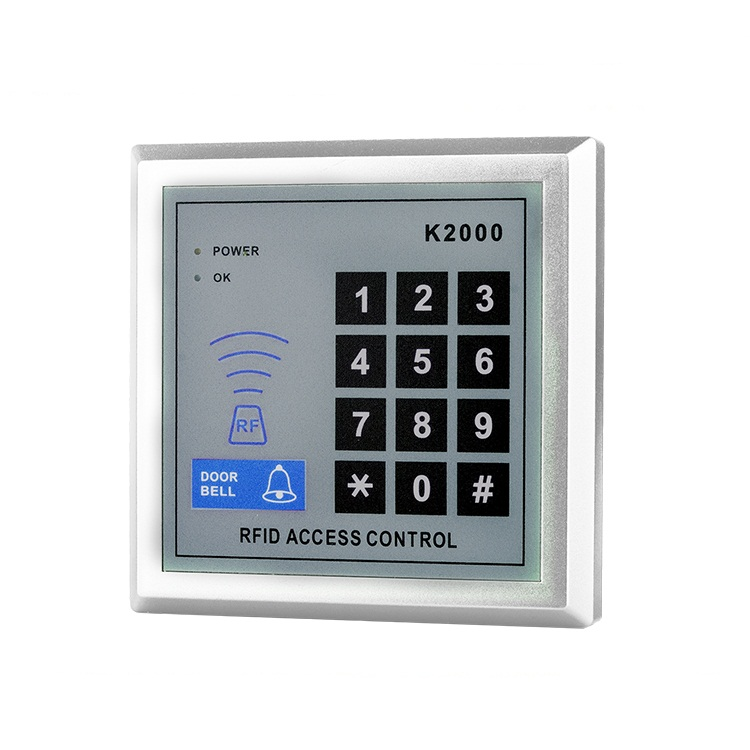 500 user RFID card  keyfob reader Door access control with  keypad 125khzRFID card reader Door access control with square keypad