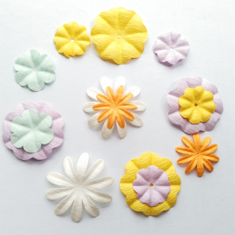Scrapbooking paper flowers craft paper flowers for scrapbooking scrapbooking paper flowers craft paper flowers for scrapbooking decoration mixed color 70pcs lot free shipping in artificial dried flowers from home mightylinksfo