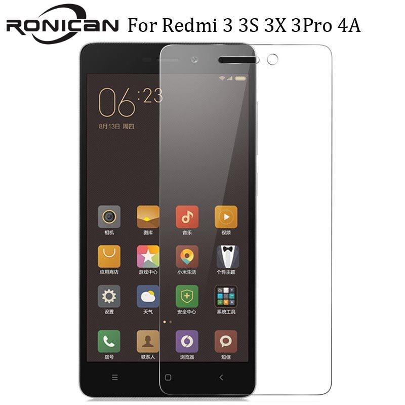 For Xiaomi Redmi 3S Tempered Glass Redmi 3 Pro Screen Protector Protective Film Xiomi 4A Xiaomi Redmi 3s 3 S 3x RONICAN Glass 5