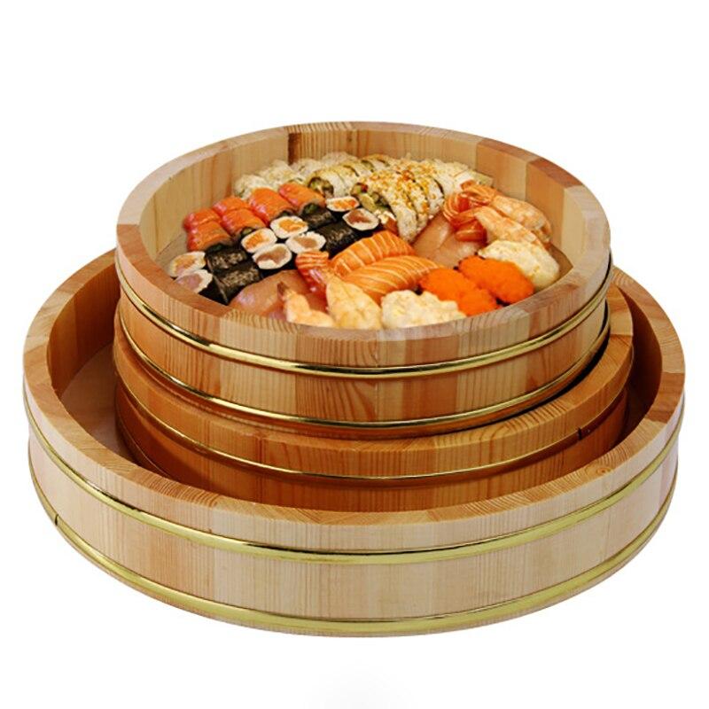 Vaisselle en bois Sushi plats principaux | Conteneurs à Sushi, ustensiles de cuisine, assiette japonaise fête de noël, vaisselle de Restaurant grand articles