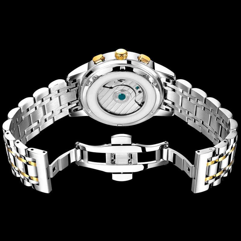 Mens Orologi di Marca Top LIGE Business della Moda di Lusso Automatico Degli Uomini Meccanici di Acciaio Militare Orologio Impermeabile Relogio Masculino