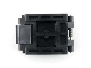 QFP128 TQFP128 LQFP128 PQFP128  Enplas FPQ-128-0.5-03A QFP IC Test Burn-In Socket 0.5mm Pitch Clamshell IC Body Size 20 * 14 mm