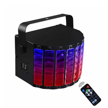 9W Multicolor DMX512 LED Beam Stage Light Sound Activated Disco DJ Party Lights Professional Pinspot Beam Stage Light Spotlight