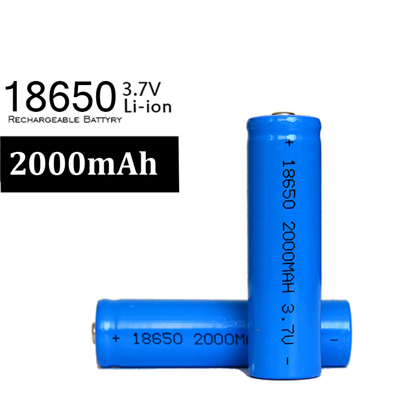 100% New Brand 4pcs/lot 18650 2000mAh Battery 3.7v Li-ion Rechargeable Lion Baterie For LED Torch Flashlight ...