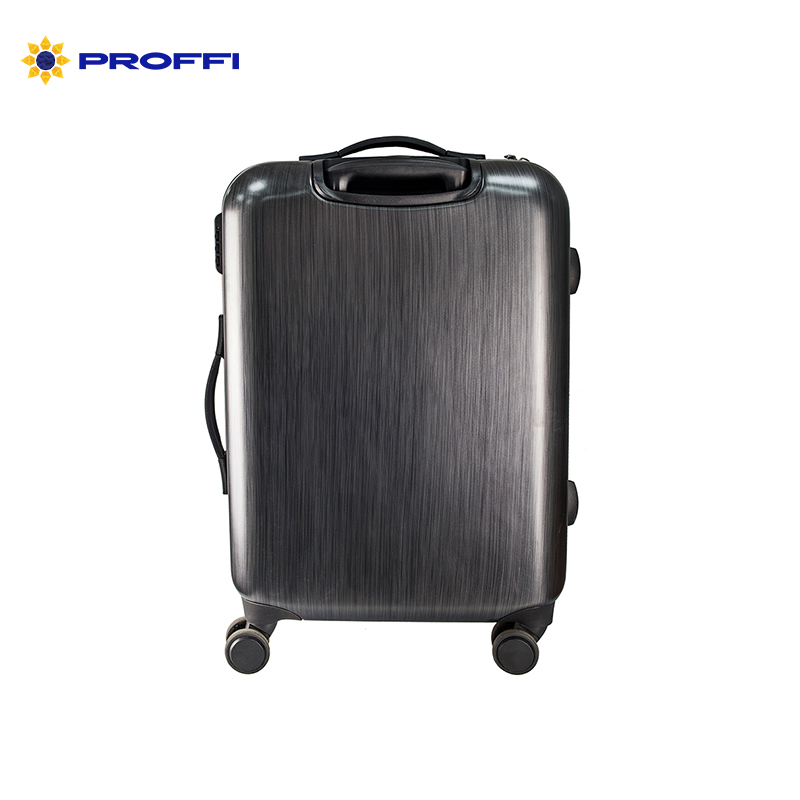 Black suitcase PROFI TRAVEL PH8865, M, plastic with retractable handle on wheels plastik injection tooling for plastic handle