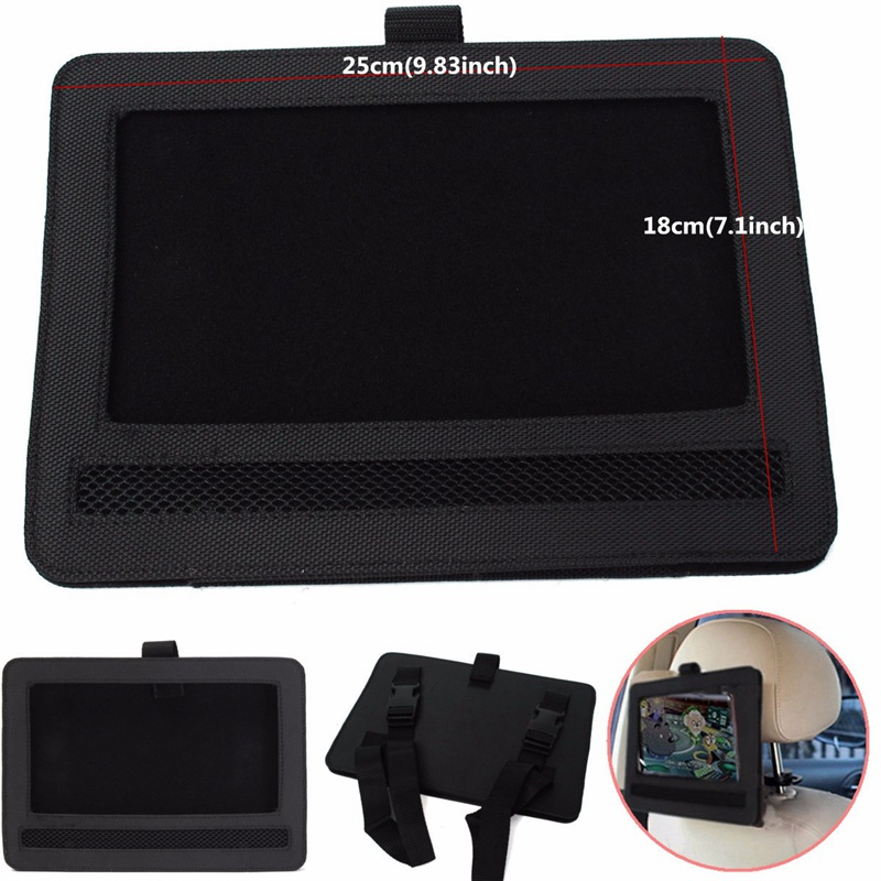 Car Headrest Mount Holder Case Storage Carry Bag for 9 inch Portable DVD Player Leather Sheath