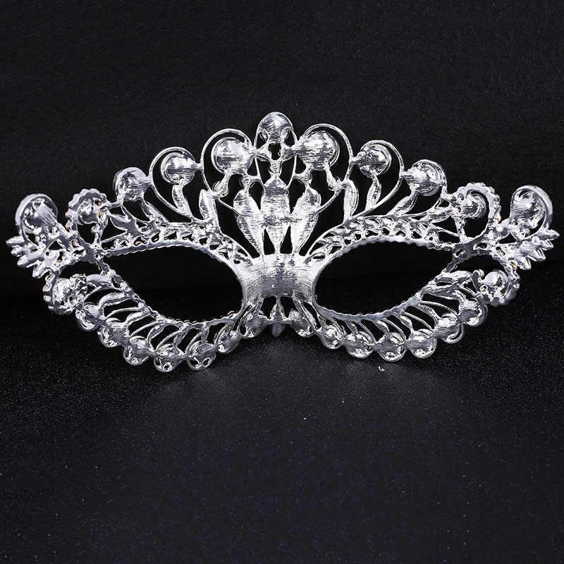 Роскошные Большие маски Goticas маска прозрачные стразы серебро La Casa De Косплей Хэллоуин Вечеринка Выпускной лицо Свадебные ювелирные изделия маскарад