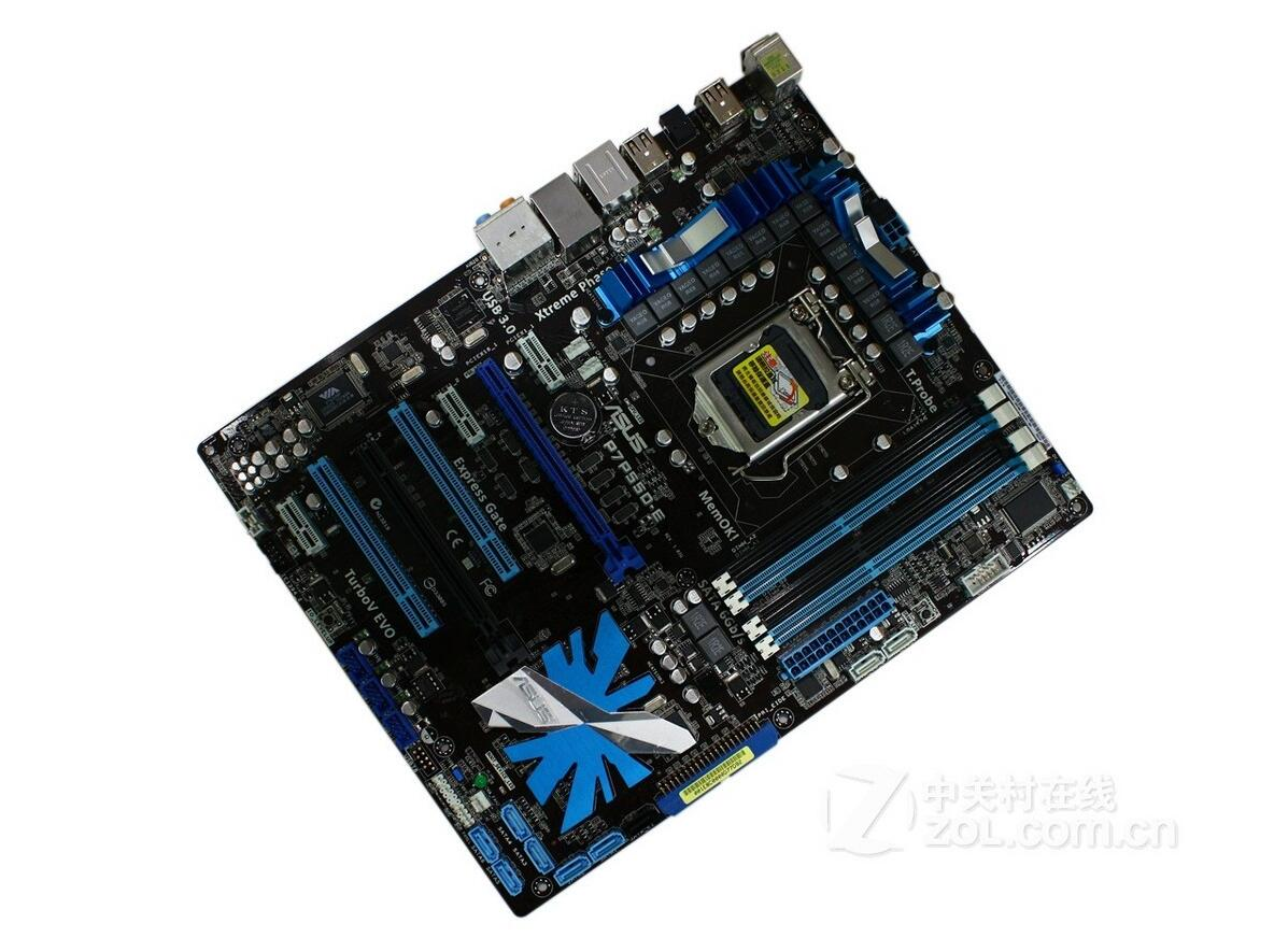 ASUS P7P55D-E 1156 P55 Motherboard Supports SATA3 USB3 asus p8z68 m pro desktop motherboard z68 socket lga 1155 i3 i5 i7 ddr3 32g sata3 usb3 0 uatx