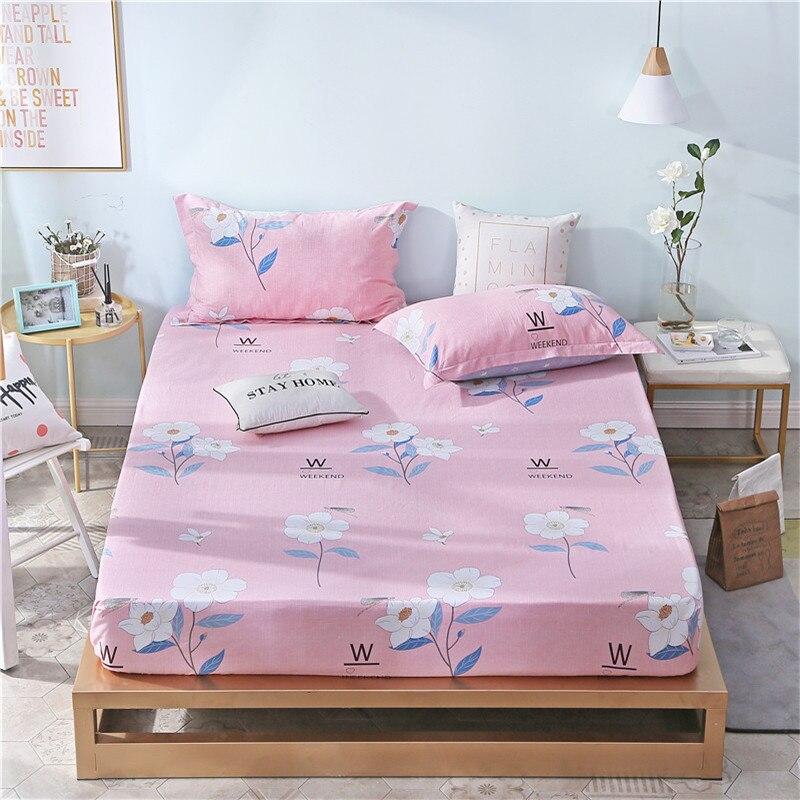 Розовый принт полиэфирной ткани постельного белья 3 шт. на продажу домашнего текстиля простыня установлен лист наволочка покрывала 180x200 см