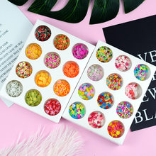 12 Type/Set Hand Diy Crystal Slime Supplies Fruit Flower Slices Nails Art Tips Box Accessories Decoration Toys For Kids(China)