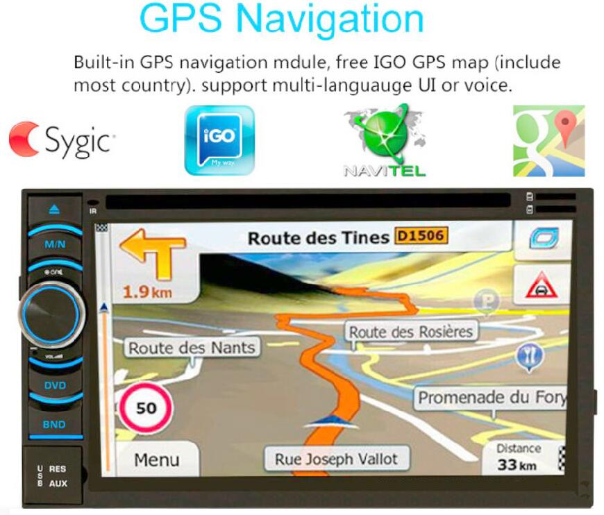 Android gps navigation 2 DIN Bluetooth Audio In Dash Touch Screen Car radio Car Audio Stereo MP3 MP5 Player USB Support SD/MMC