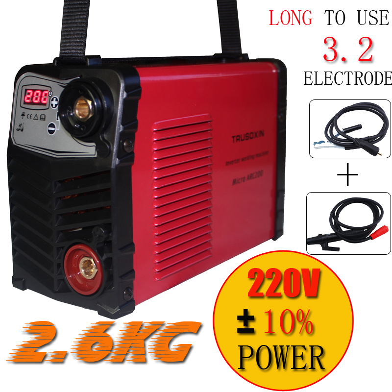 Plastic panel Current digital display welder 3.2MM electrode 220V/230V MINI 200A Inverter DC IGBT Welding machine/equipment/tool igbt inverter welding machine co2 gas shielded welding machine n 200 220v 200a