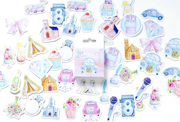 S188- Little Lucky Diy Decorative Stickers(1pack=46pieces)