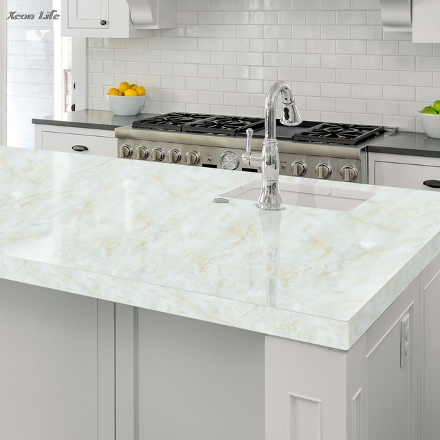 Ishowtienda 1pc 5060cm Marble Contact Paper Self Adhesive Glossy
